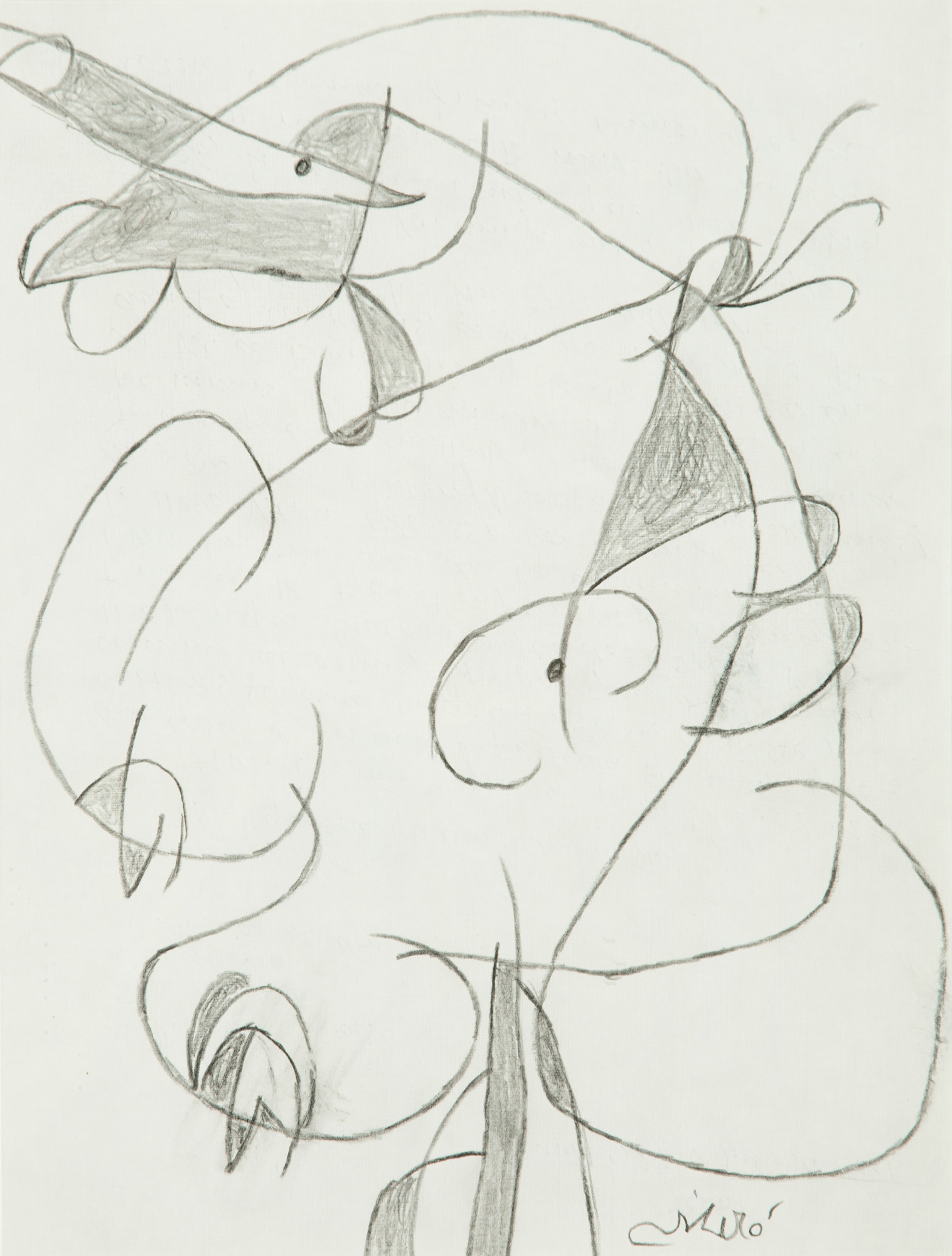 Joan Miró. Femme, 1981. Salida: 9.750 euros. Remate: 18.000 euros