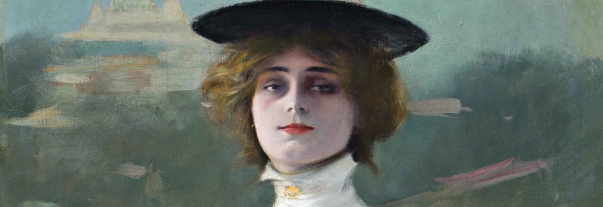 Ramón Casas. La Parisienne o La model, Montmartre, detalle. Salida: 120.000 euros