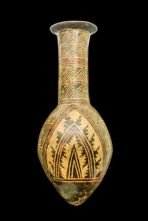 488 Gran ánfora Nariño. Arte Precolombino, cultura Nariño, Colombia 500-1.200 d. C.. Terracota policromada. 00
