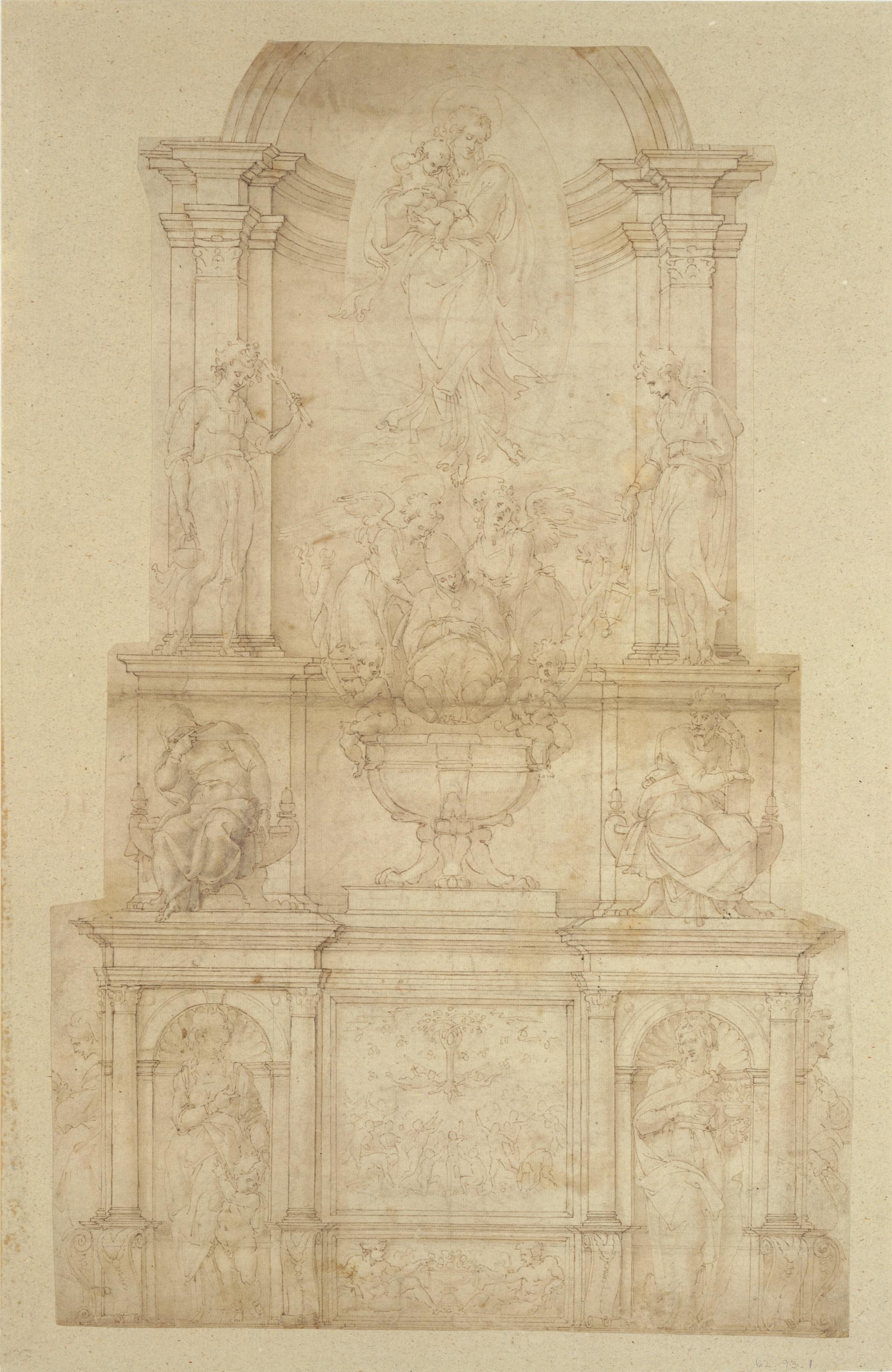 5. Michelangelo_Design for the Tomb of Pope Julius II della Rovere_MMA