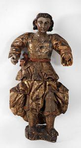 753 Angel Escultura en madera tallada policromada y sobredorada. Méjico, S.XVIII.00