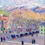 Darío de Regoyos. Plaza granadina, 1905. Salida: 32.000 euros. Remate: 75.000 euros