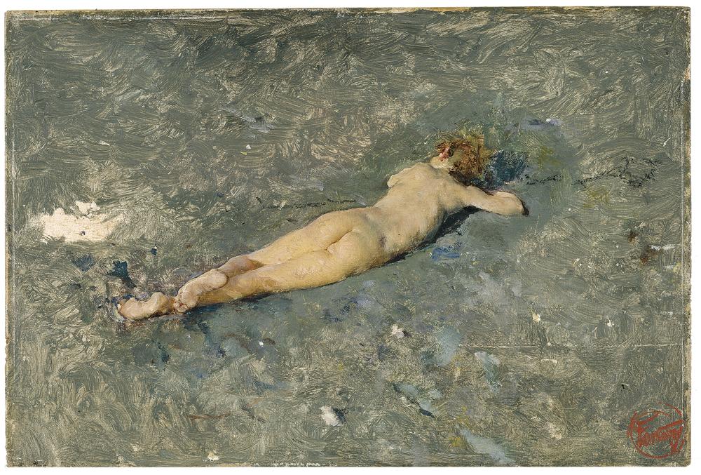 fortuny desnudo playa