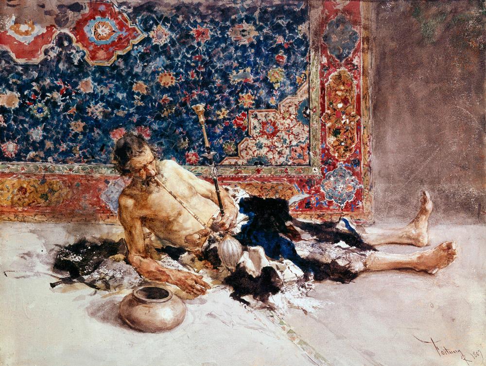 fortuny el fumador de opio