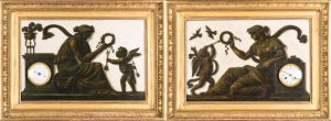 304-Piat-Joseph-Sauvage.-Pareja-de-placas-de-mármol-policromadas-con-escenas-mitológicas-representando-a-Psiquis-y-Cupido-incorporando-reloj-y-barómetro,-París-hacia-1800.-Una-placa-firmada.03