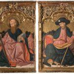 Anónimo de la Corona de Aragón, c. 1500. San Pedro y san Pablo, y Santiago y san Antonio abad. Salida: 60.000 euros. Remate: 90.000 euros