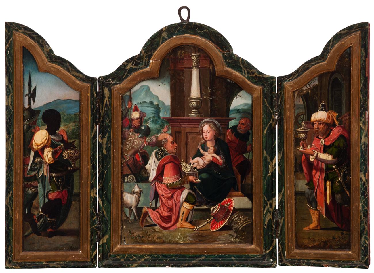 Escuela flamenca s.XVI – Adoración de los reyes magos
