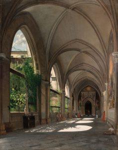 Genaro Pérez de Villaamil y Duguet – Interior de un Claustro