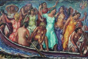 José Aguiar – Mujeres en barcaza