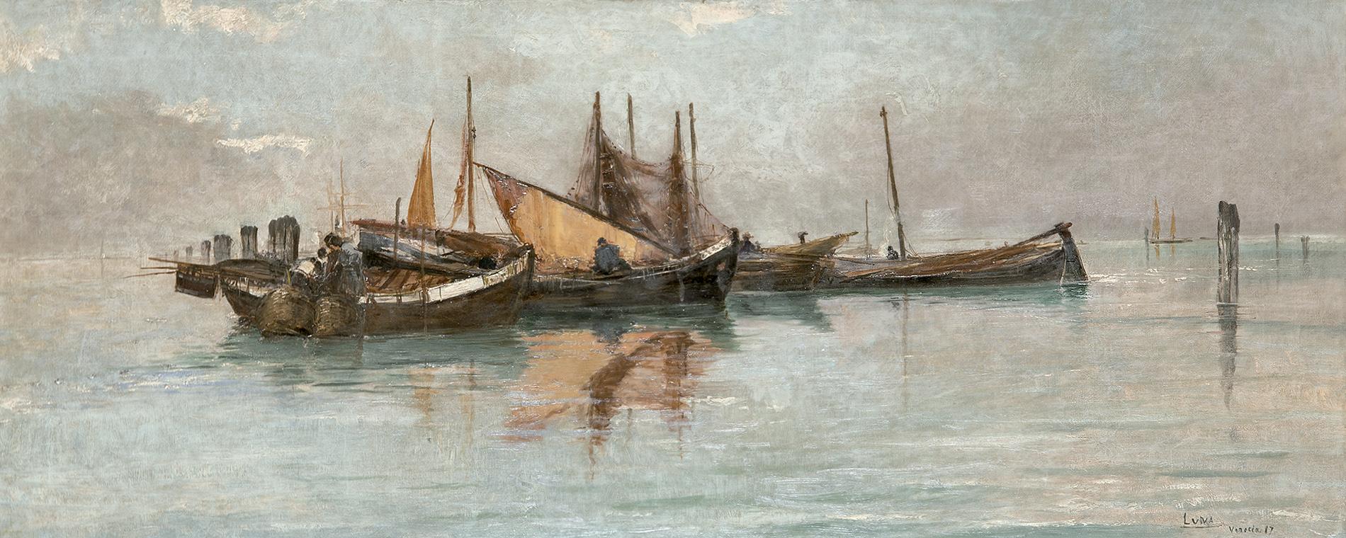 Juan Luna. Claro de luna en la laguna de Venecia, 1887. Salida: 48.000 euros. Remate: 65.000 euros