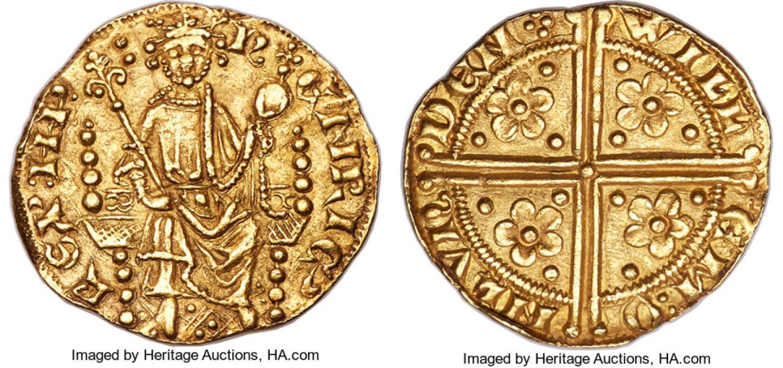 Penique de oro de Enrique III. Estimación 250.000$. Heritage