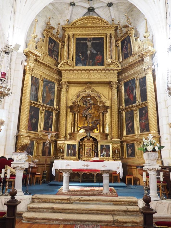 retablo san miguel arcos de la llana