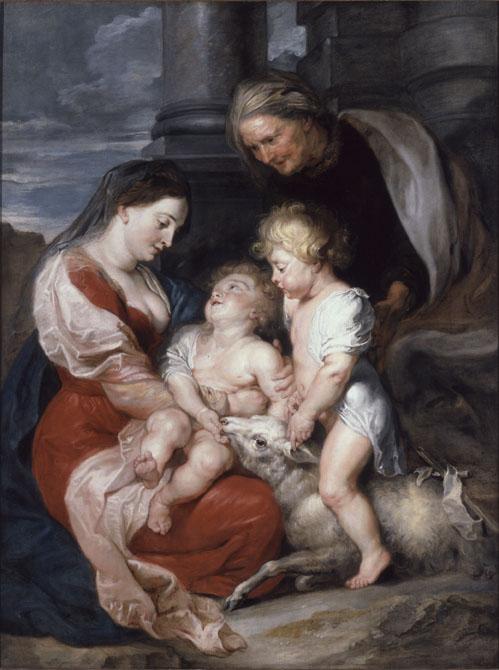 18. Peter Paulus Rubens. La Mare de Déu i el Nen Jesús amb santa Isabel i sant Joanet. Col·lecció Thyssen-Bornemisza .Museu Nacional d'Art de Catalunya