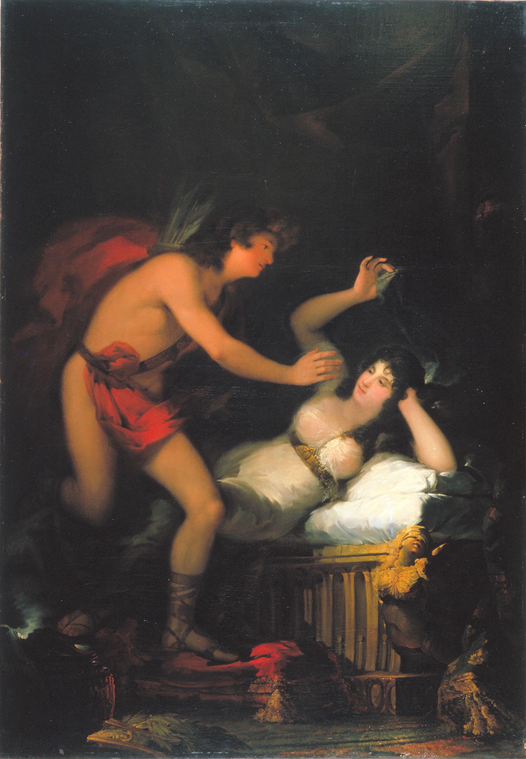 20. Francisco Goya. Al-legoria de l'Amor, Cupido i Psique. 1798-1805