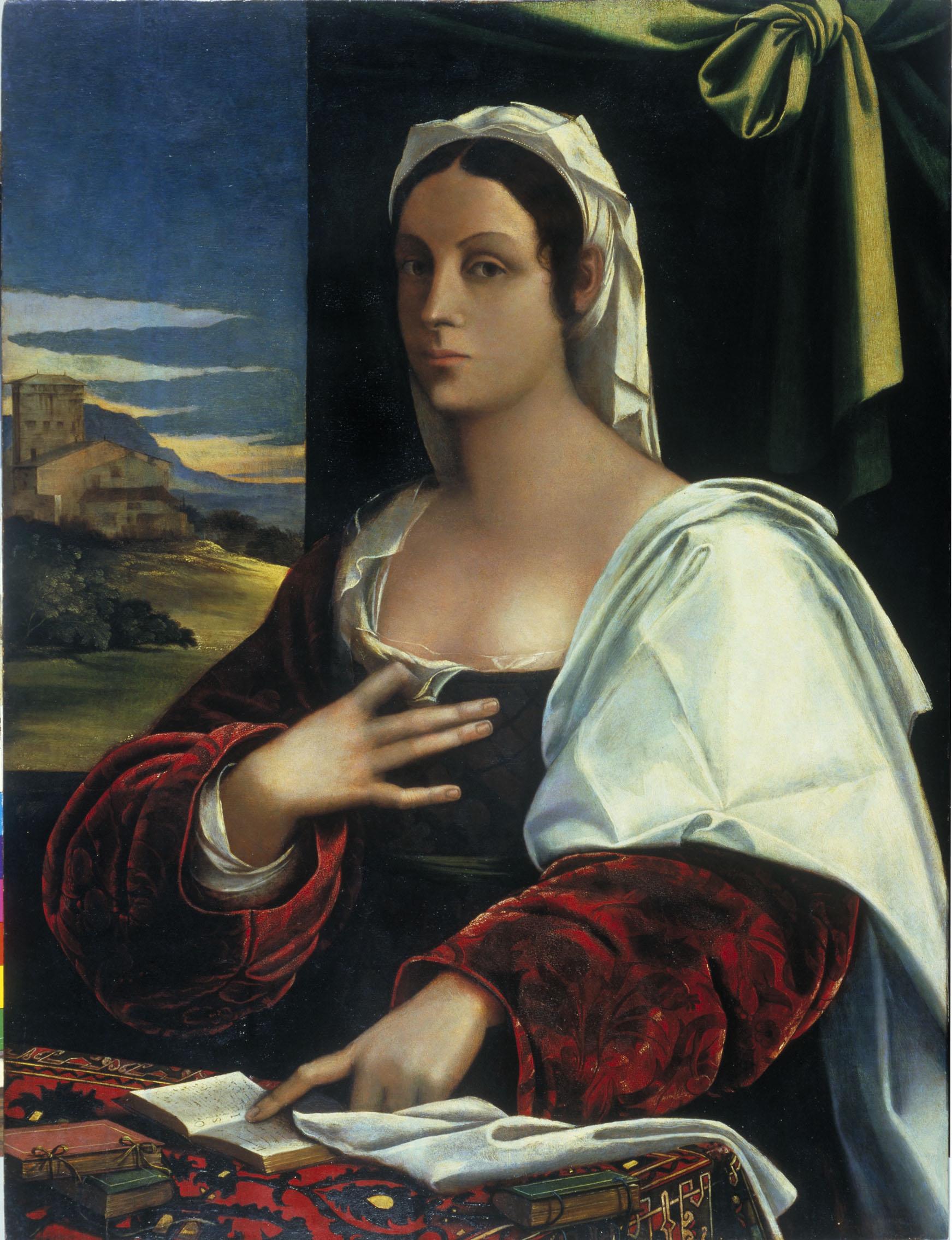21. Sebastiano del Piombo. Vittoria Colonna. Llegat Francesc Cambo. Museu Nacional d'Art de Catalunya