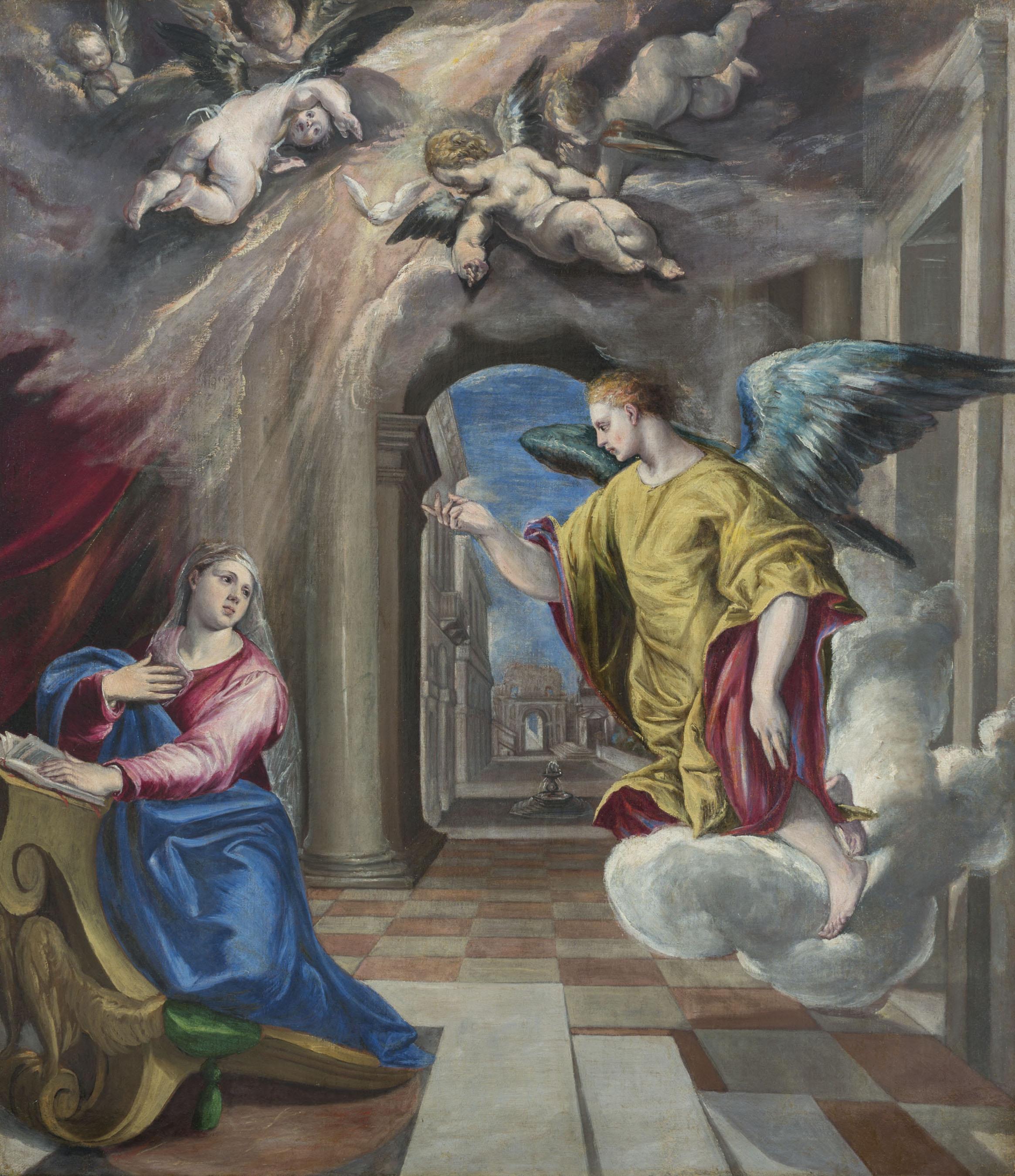 26. El Greco, Anunciació. Col·lecció Julio Muñoz Ramonet. Dipòsit judicial provisional, 2017. MNAC