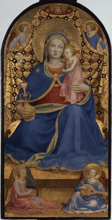7. Fra Angelico, Mare de Déu de la Humilitat.Col·lecció Thyssen-Bornemisza. Museu Nacional d'Art de Catalunya
