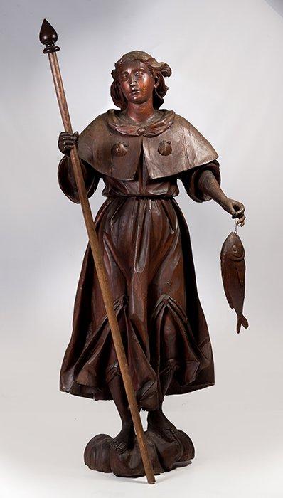 794 San Rafael Anónimo S. XVII Escultura en madera tallada.00
