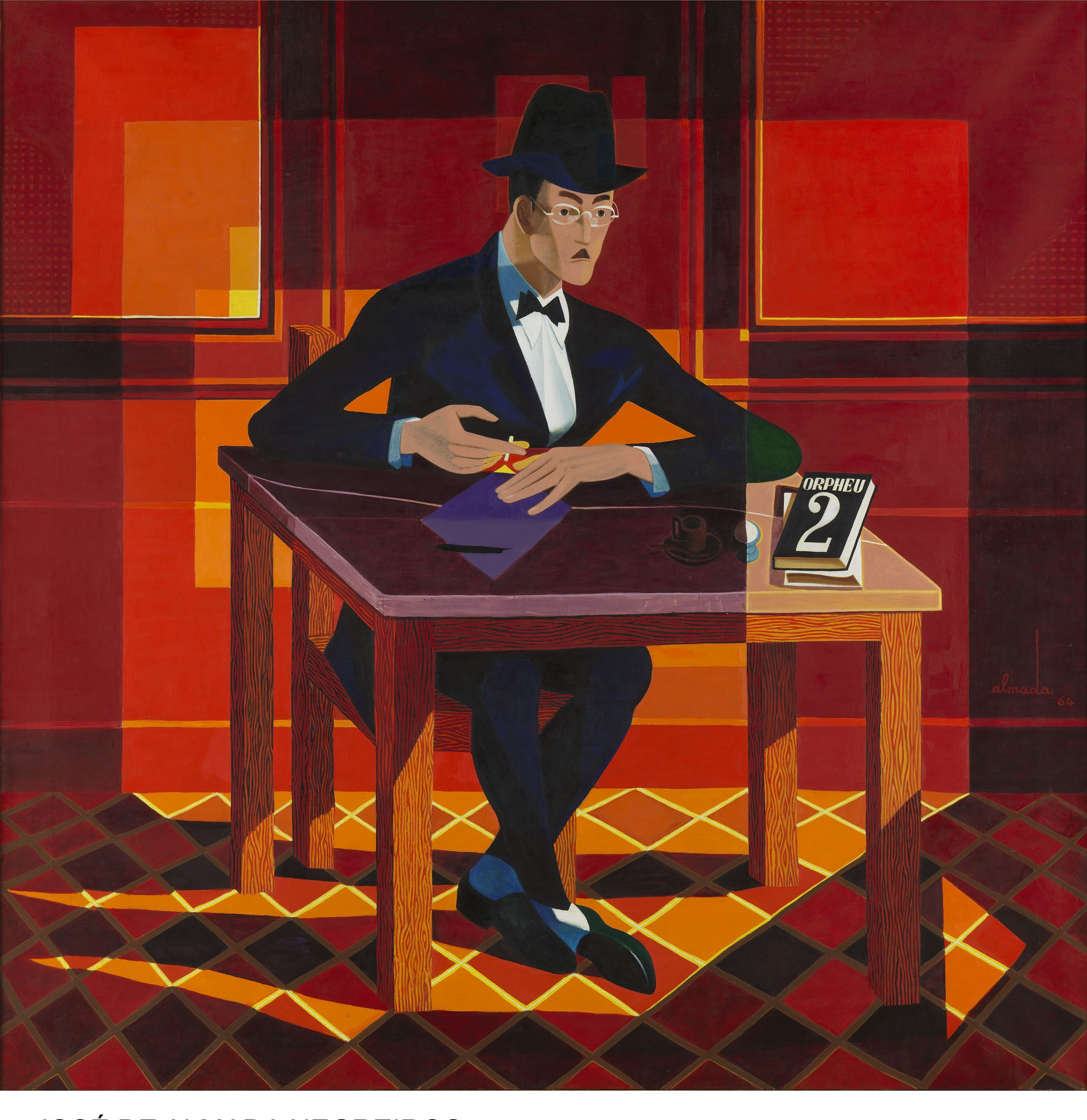 JOSE DE ALMADA-Retrato de Pessoa