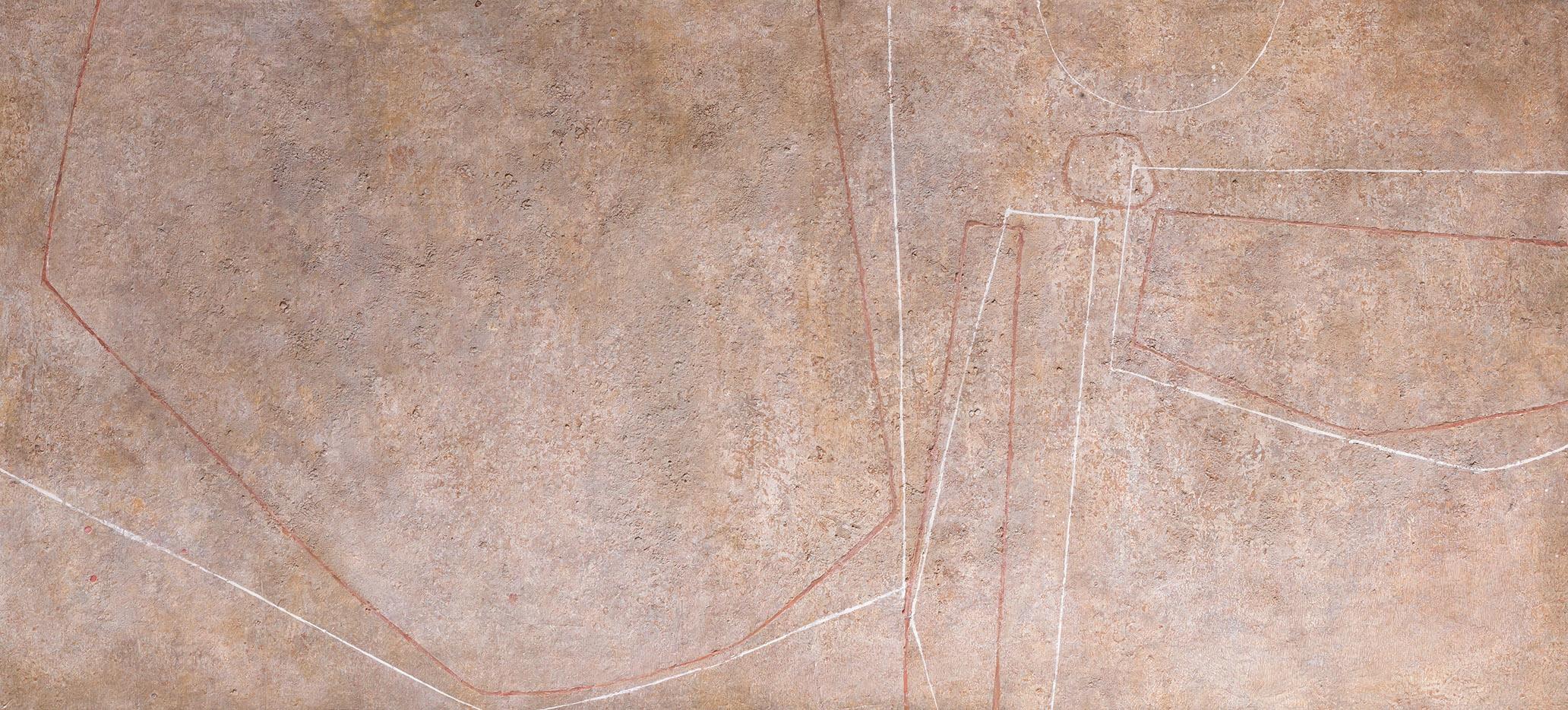 Luis Feito. Composición, 1955. Salida: 30.000 euros. Remate: 32.000 euros