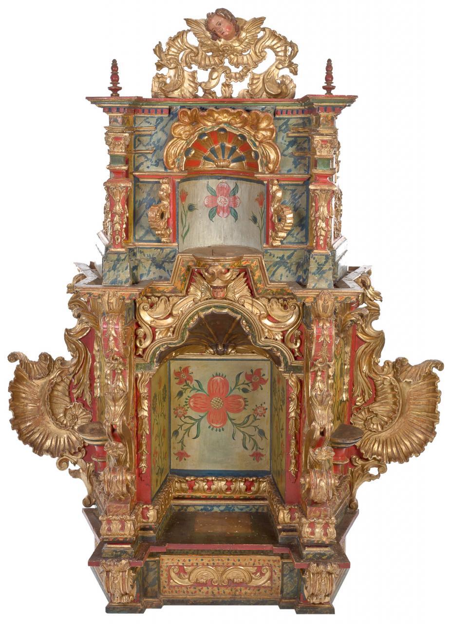 Retablo barroco – Escuela Mejicana s. XVIII