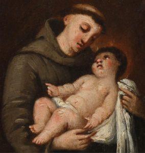 San Antonio y el Niño Jesús – Círculo de Francisco de Goya