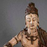 859-Guanyin-tallada-en-madera-con-policromía-posterior,-posiblemente-Dinastía-Ming.02