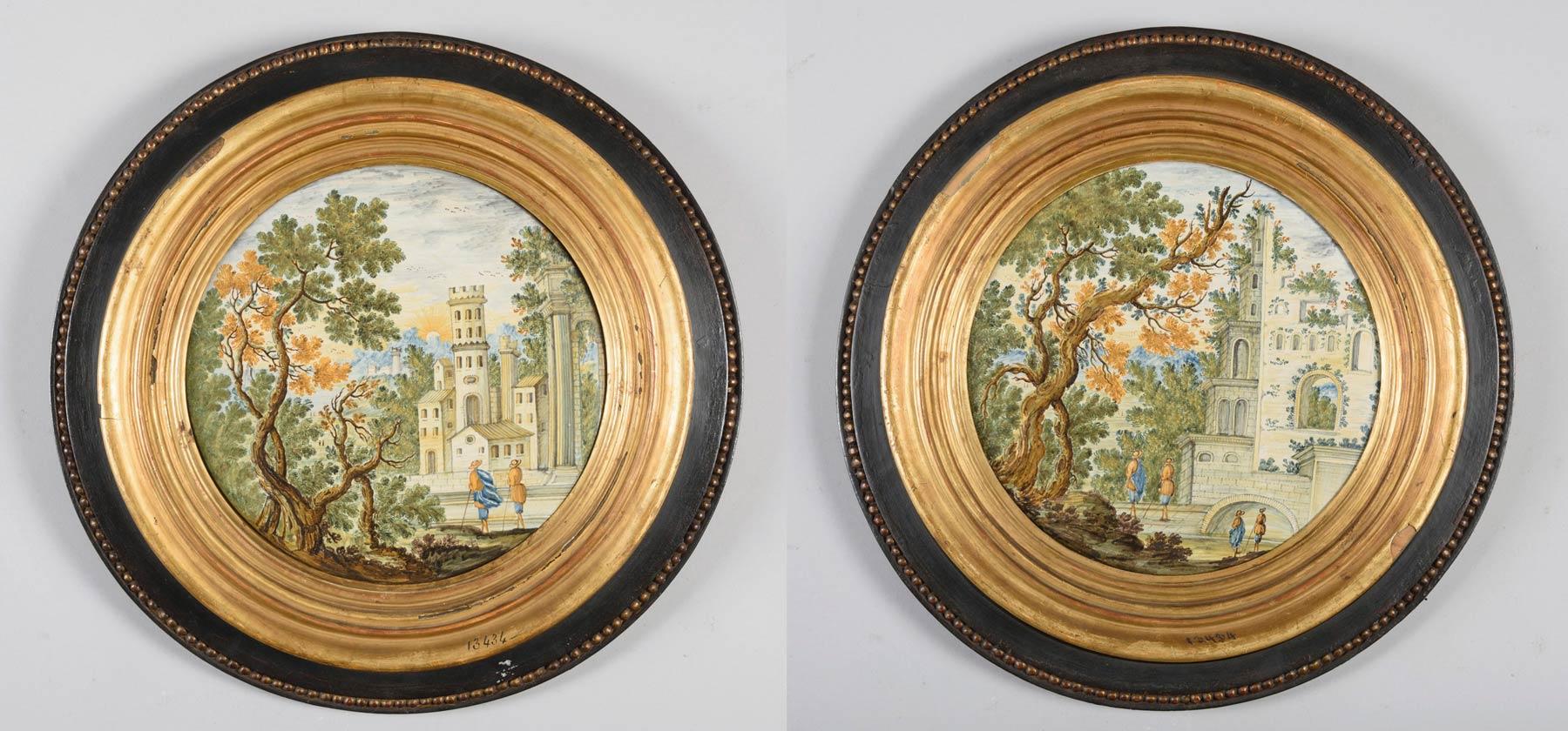 944-pareja-de-tondos-en-ceramica-de-castelli-s-xviii.4