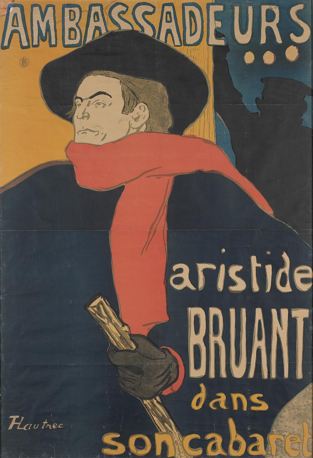 b TOULOUSE LAUTREC Ambassadeurs Aristide Bruant 1892
