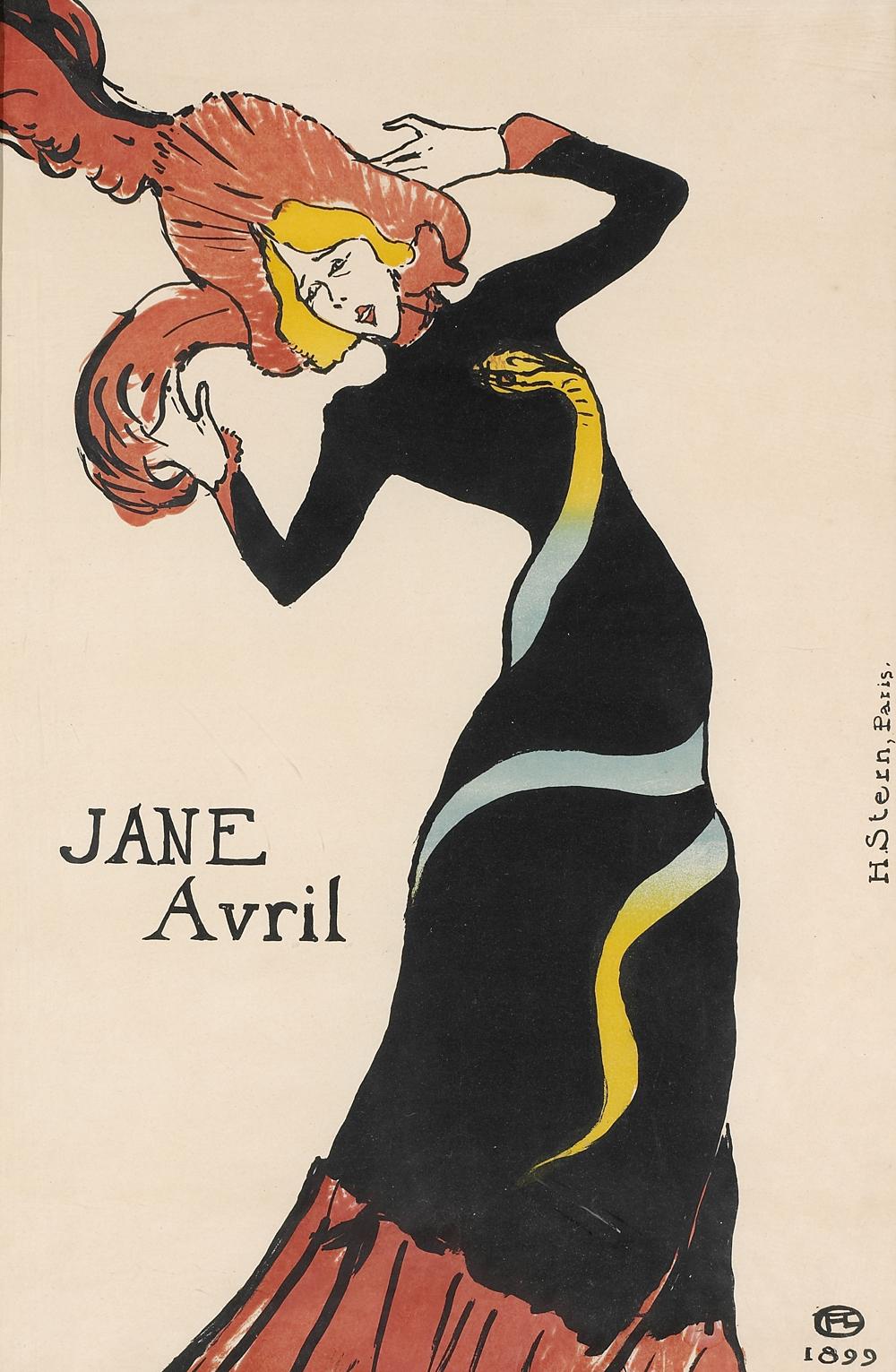 b TOULOUSE LAUTREC Jane Avril 1899