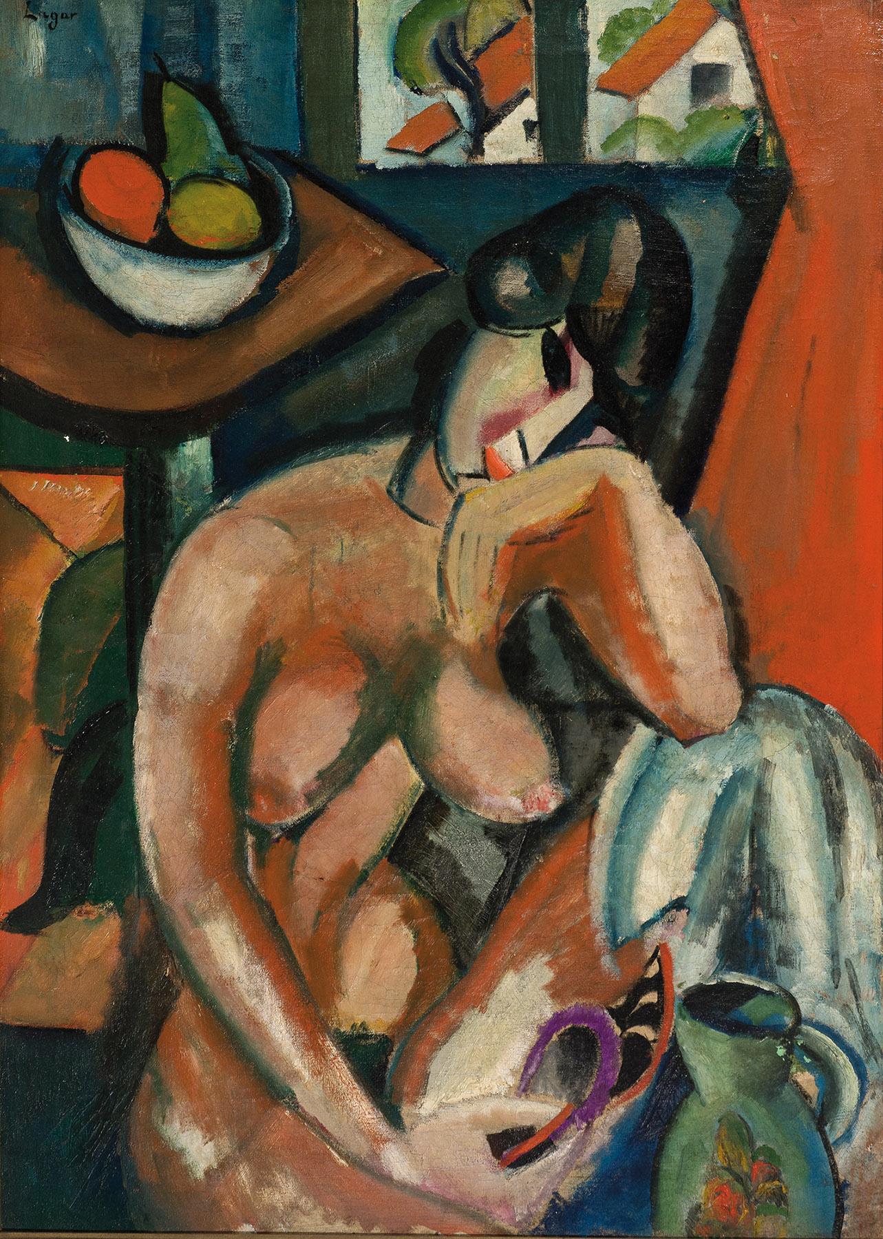 Celso Lagar. Desnudo femenino en interior, 1917. Salida: 32.000 euros. Remate: 75.000 euros
