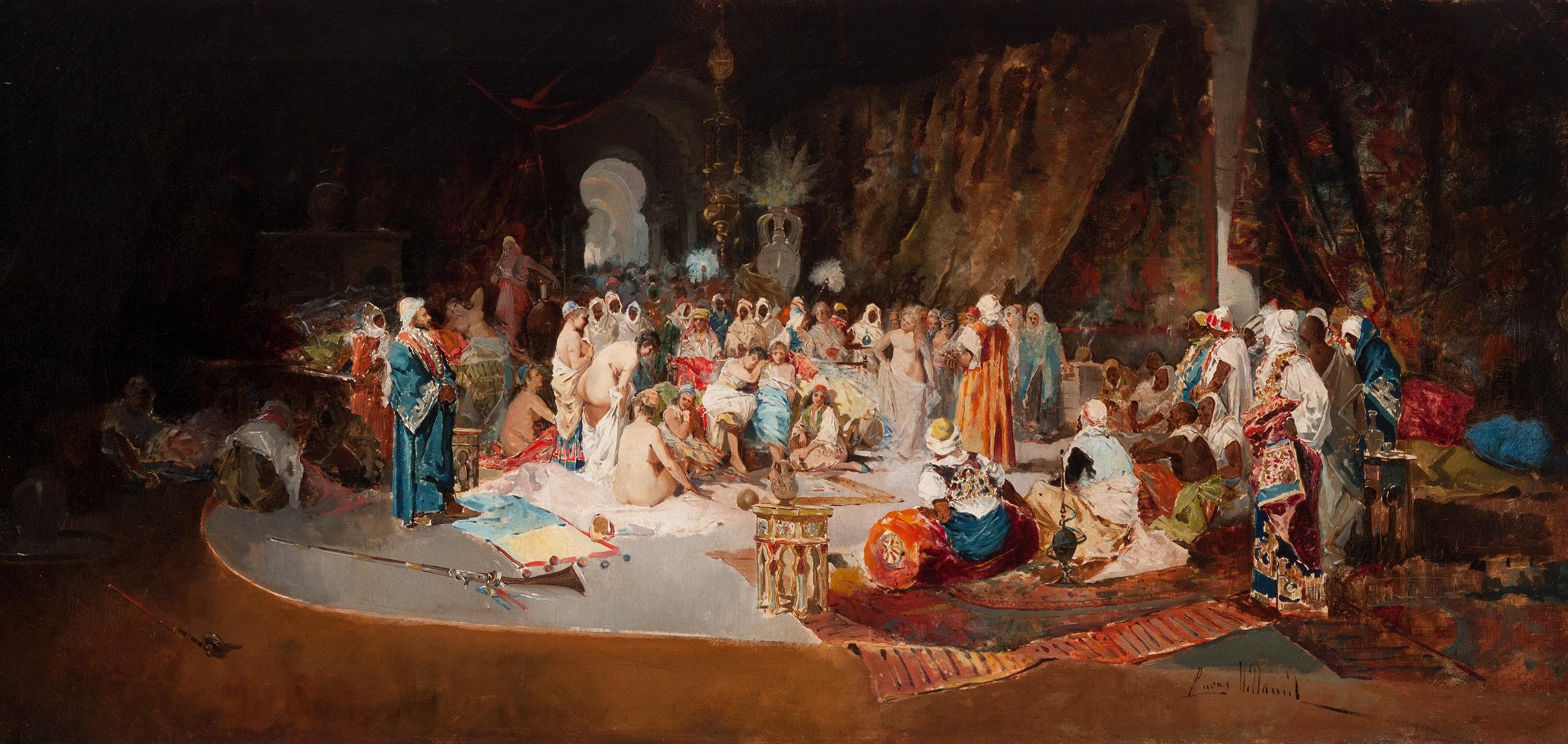 Escena orientalista – Eugenio Lucas Villamil.