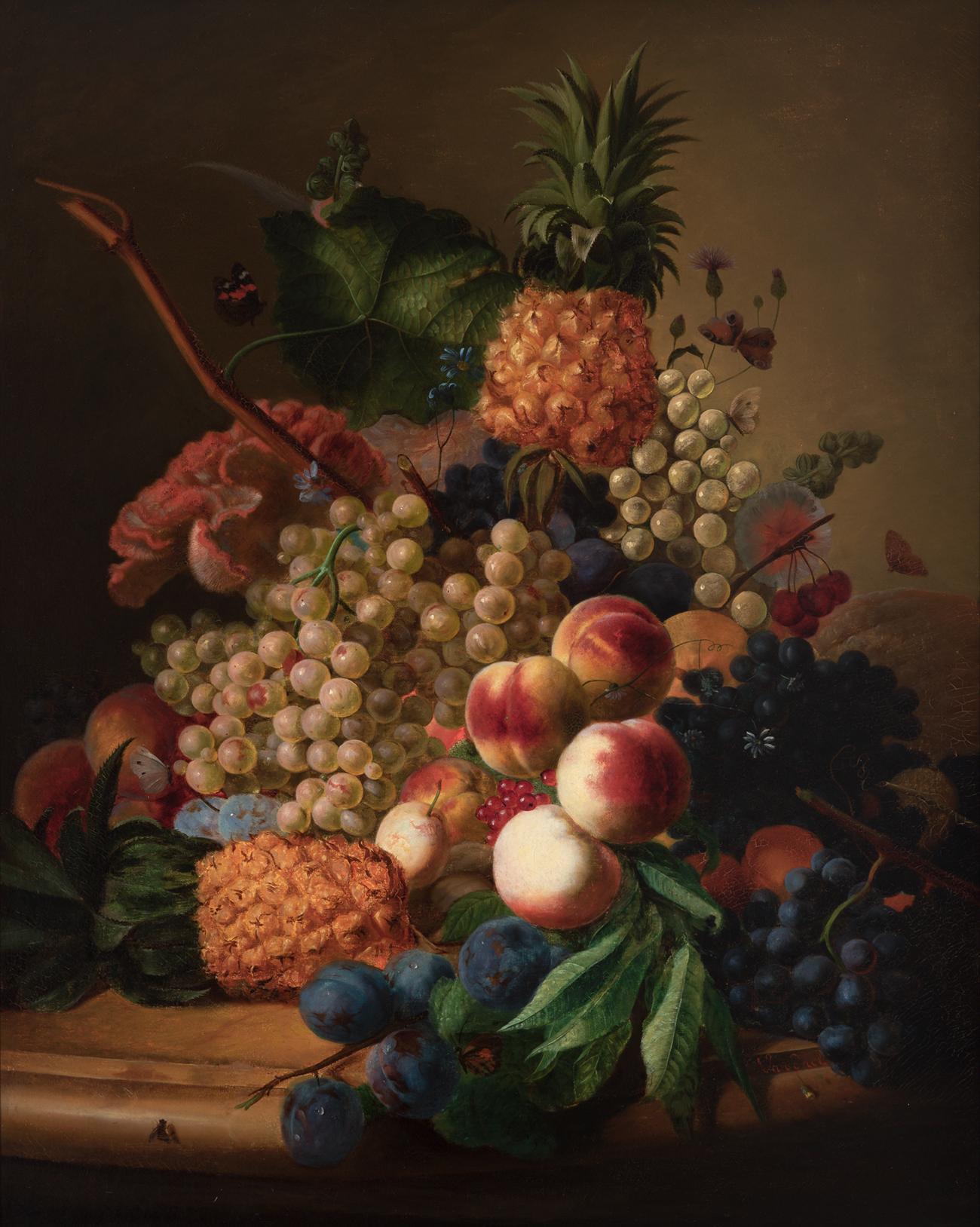 Naturaleza muerta con frutas – Jan Frans van Dael.