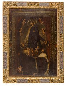 Virgen con San Antonio – Escuela madrileña s. XVII