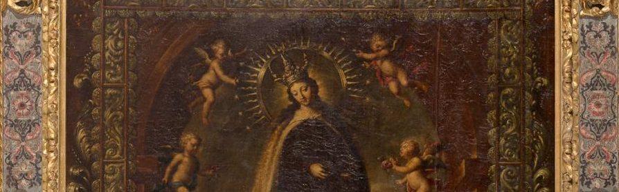 Virgen con San Antonio - Escuela madrileña s. XVII