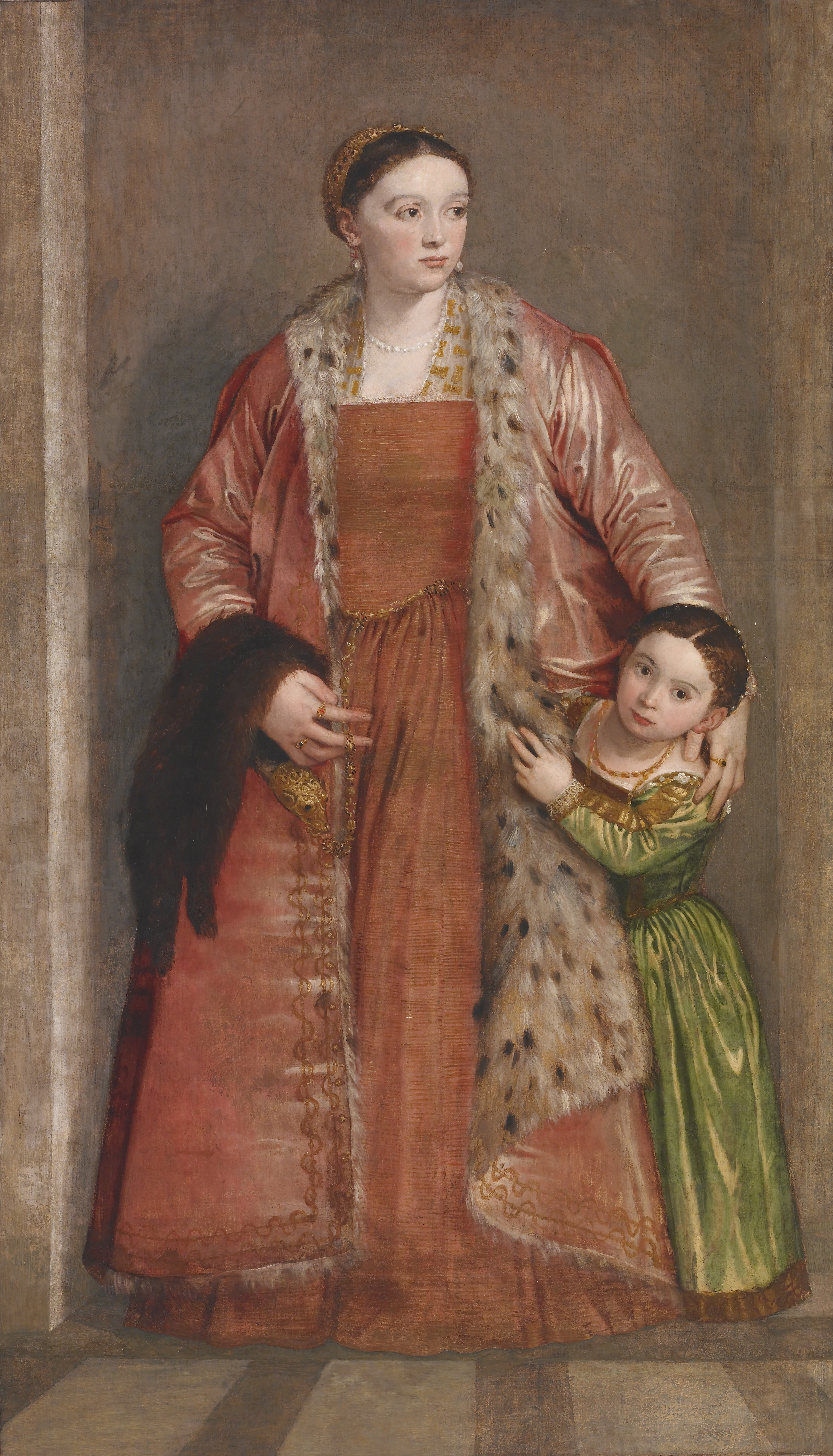 Portrait of Countess Livia da Porto Thiene and her Daughter Deid