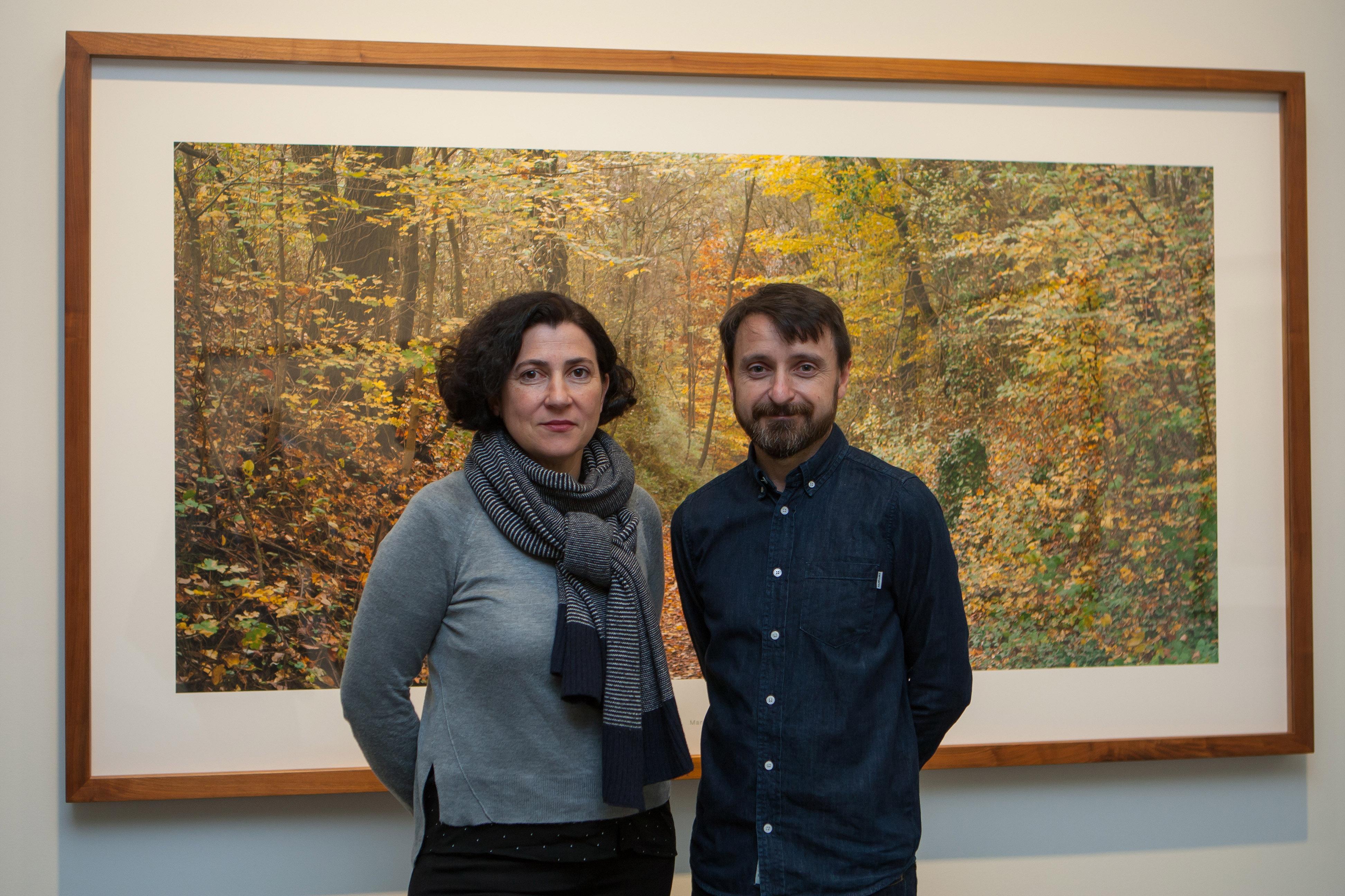 Bleda y Rosa en la presentación de Geografía del Tiempo en el Museo Universidad de Navarra. MANUEL CASTELLS (5)