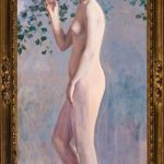 Ramón Casas. Desnudo femenino, c. 1910. Salida y remate: 85.000 euros