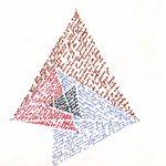Esther Ferrer Triángulo de Napoleón, finales años 1980 Maqueta. Rotuladores de colores sobre cartón 15 x 20 x 6 cm 15 x 20 cm Archivo Esther Ferrer © Esther Ferrer, VEGAP, Bilbao, 2018
