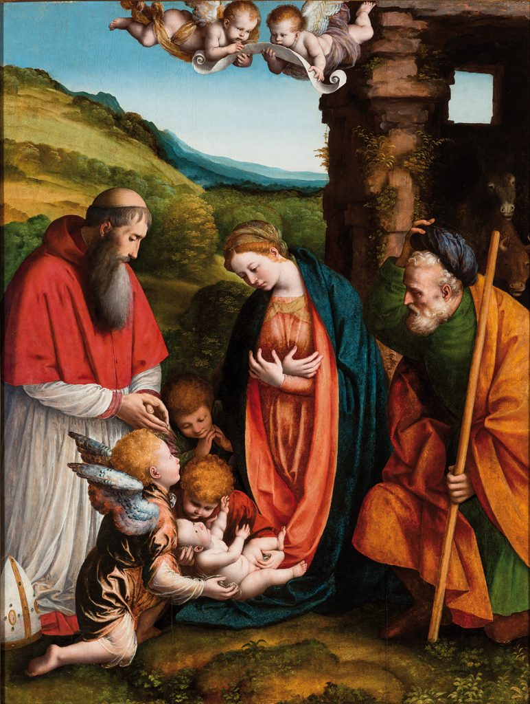 02_Gaudenzio-Ferrari-Adorazione-del-Bambino-e-un-Vescovo-donatore-Ringling-Museum-Sarasota.