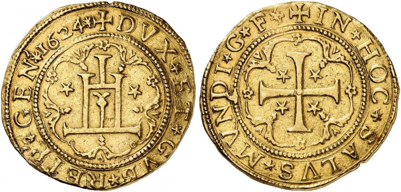 10 escudos de Génova. Rematado en 150.000 euro. Kuenker
