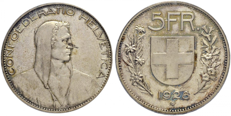 5 francos 1928 B. Salida 18.000 francos suizos. Sincona