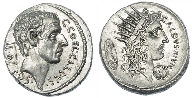 Denario de la República Romana, Coelia. Rematado en 5.500 euro. Jesús Vico