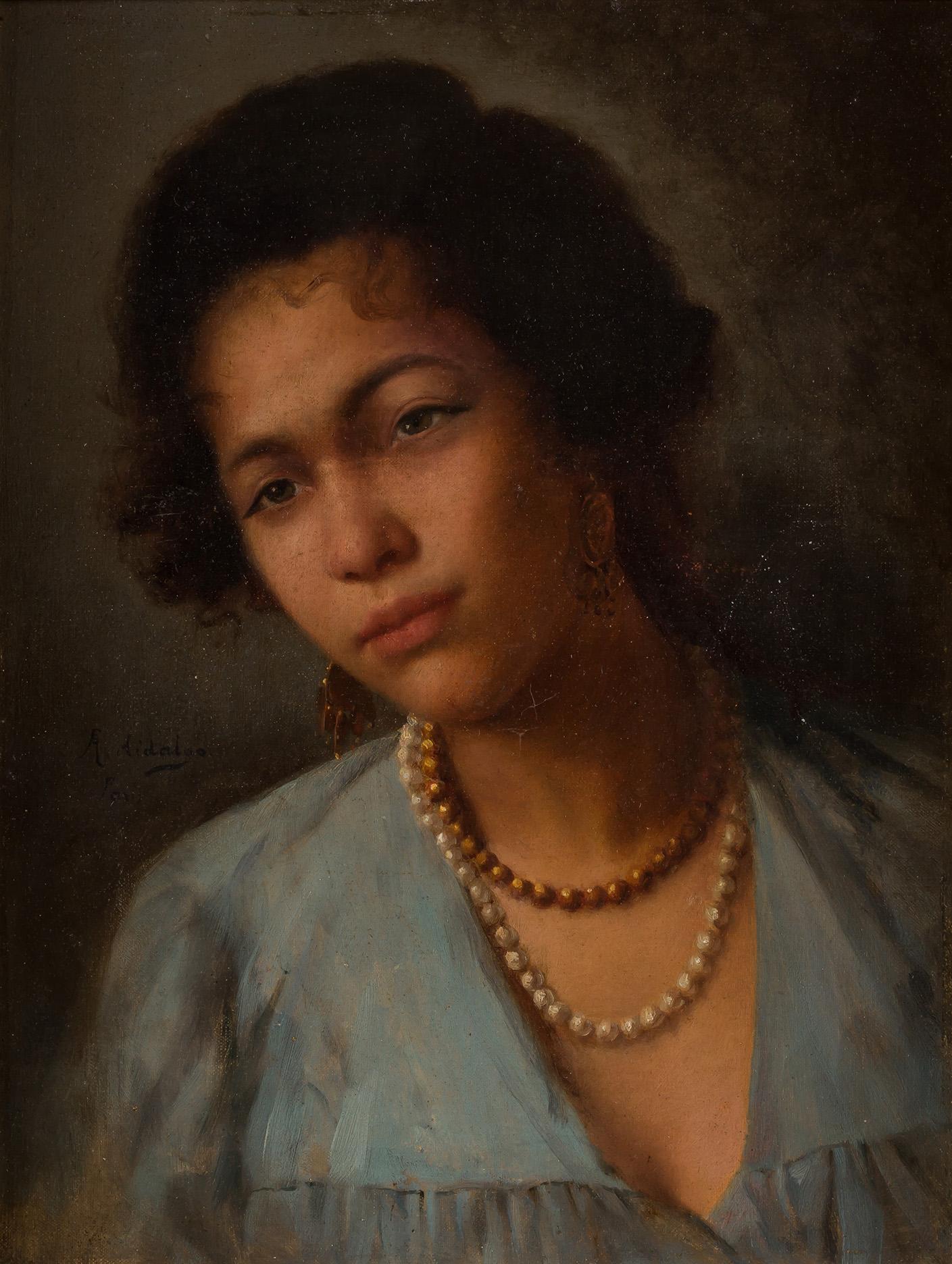 Félix Resurrección Hidalgo. Retrato de mujer filipina. Salida: 68.000 euros