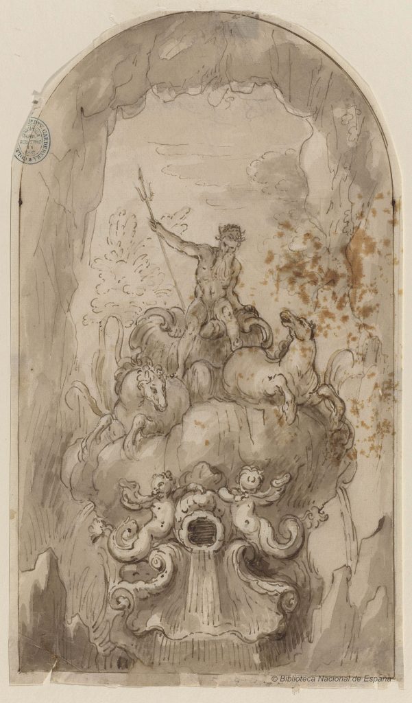 Fuente con Neptuno. Claudio Coello, ca.1679
