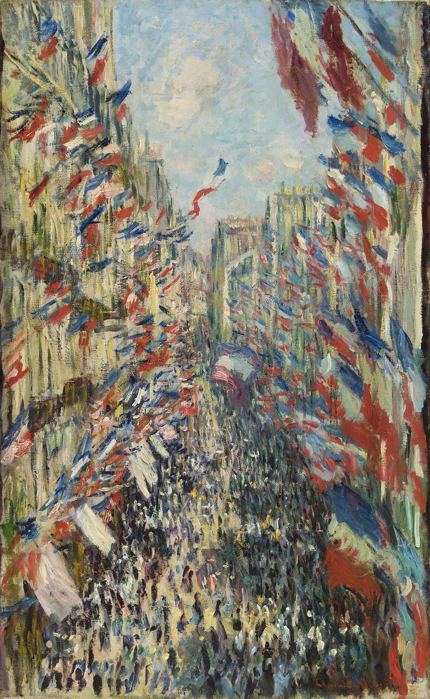 La rue Montorgueil, à Paris. Fête du 30 juin 1878