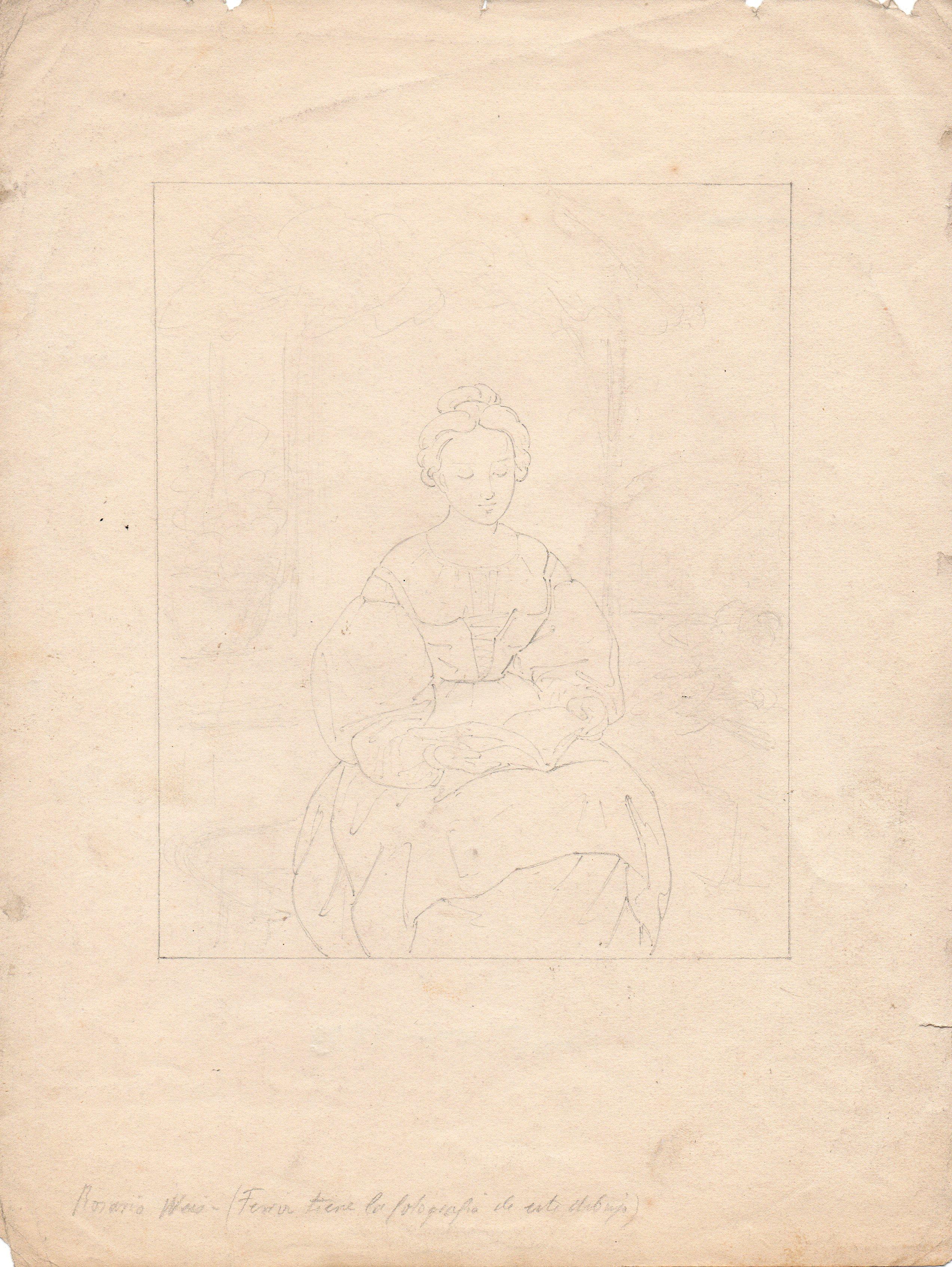 R. Weiss. 287 x 217 mm. Lápiz