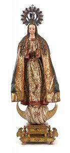 604-Virgen-Inmaculada.-Escultura-en-madera-tallada,-policromada-y-dorada.-Corona-de-plata.01