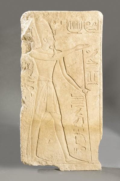 964 Ramses II. Bajo relieve tallado en piedra arenisca, Imperio Nuevo, Dinastía XIX 1290-1224 a.C.00