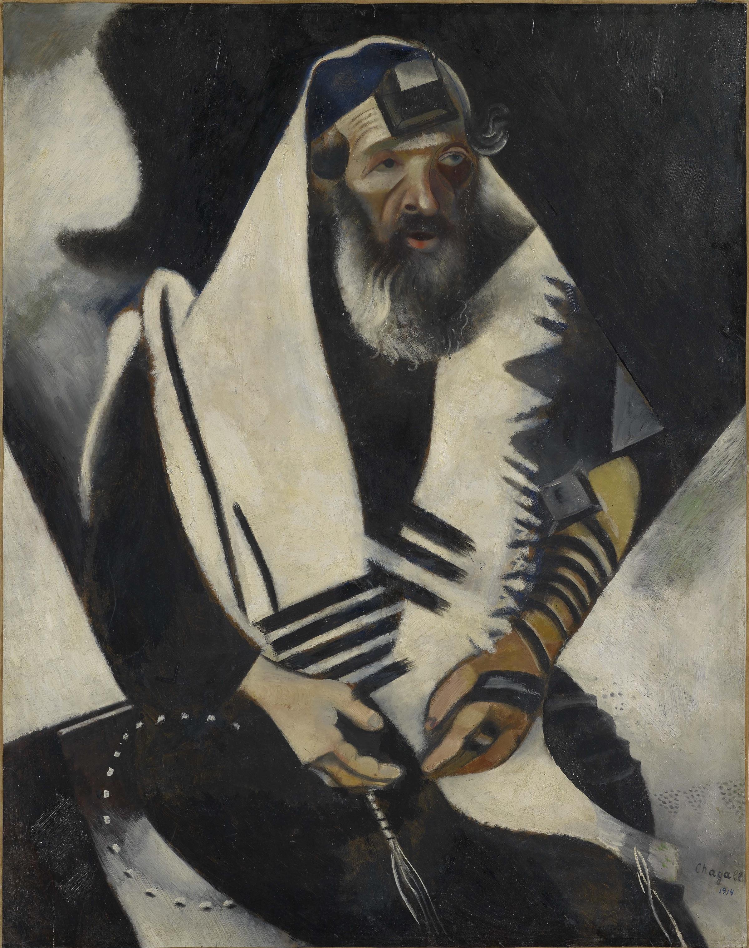 Marc Chagall; Der Jude in Schwarz-Weiss; 1914